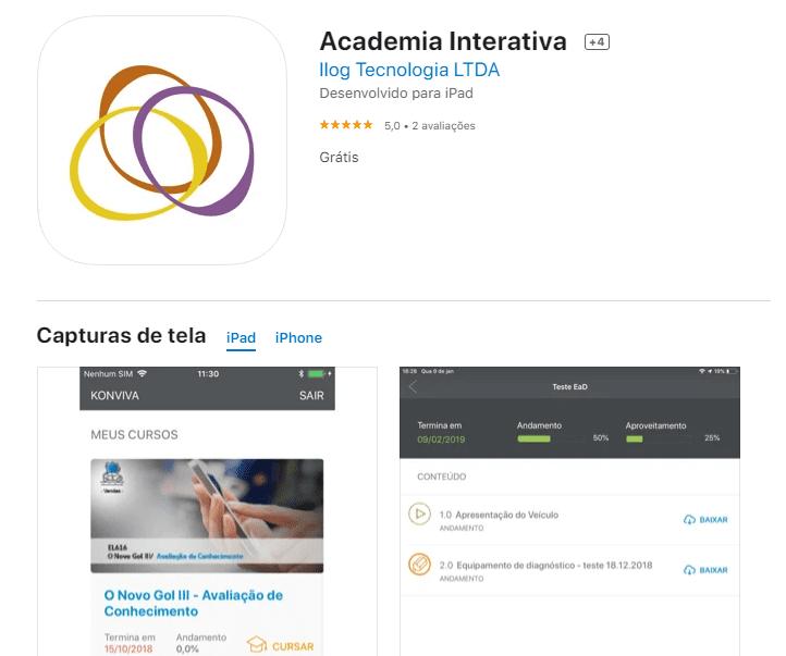 App IOS Academia Interativa VW